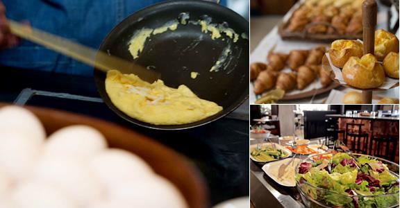ベーカリーブッフェとモーニングプレート選べる2つの朝食