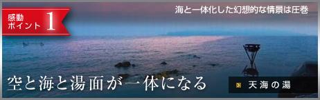 感動ポイント1 場面と海が一体になる