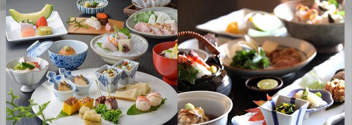 旬菜会席と地鶏播州赤とり鍋
