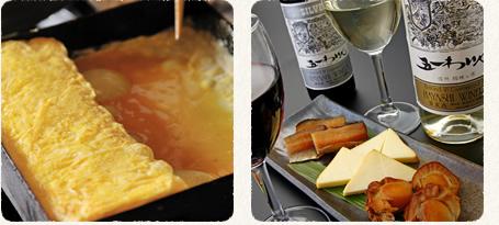 自家製燻製とふわふわの卵焼き