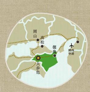 大歩危の地図
