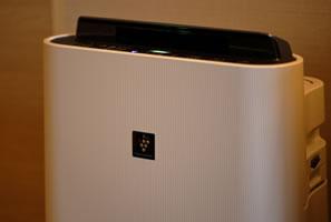 加湿機能付空気清浄機(プラズマクラスター搭載)全室標準装備