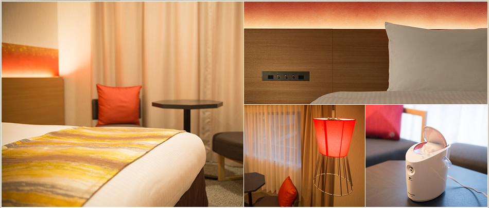 古き良さと新しさが融合した、和モダンの客室。良質な安らぎ空間。