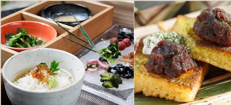 焼きたてパンと京料理で健やかな朝。