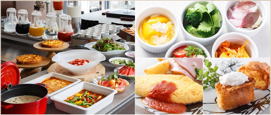 選べる朝食で健やかな朝を。