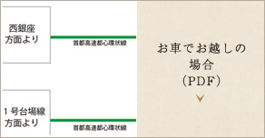 お車でお越しの場合(PDF)