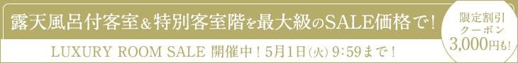 【LUXURY ROOM SALE】最大70%OFF 新館ロイヤルスイート限定セール!!