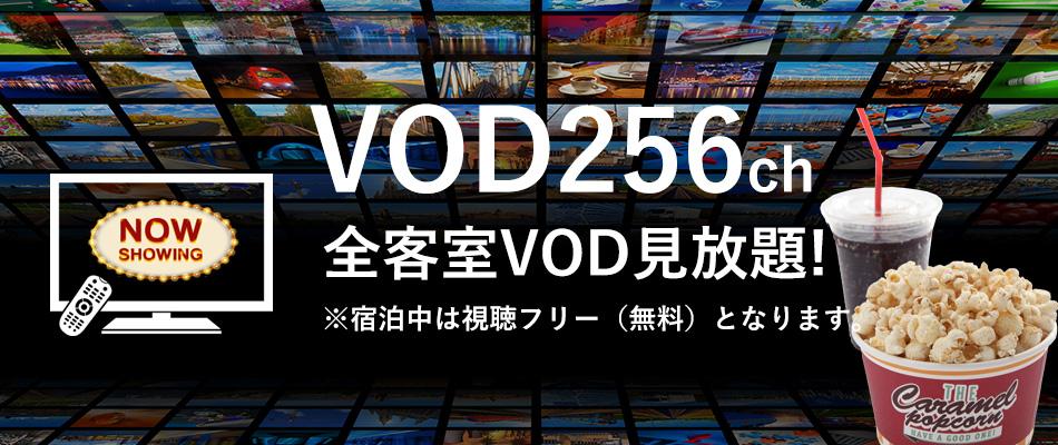 全客室VOD256チャンネル無料
