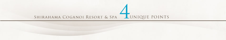 SHIRAHAMA KOGANOI RESORT & SPA 4 UNIQUE POINTS 白浜古賀の井リゾート&スパの5つの魅力