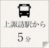 上諏訪駅から5分