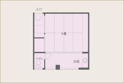 葵亭 一般客室(10畳) 眺望なし 間取り