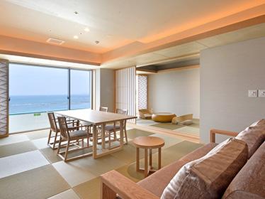 【2017年3月オープン】 露天風呂付客室『浜水晶・特別室』で過ごす贅沢な休日 夕・朝食お部屋食