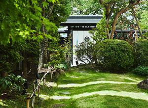 和のしつらえと緑の庭園