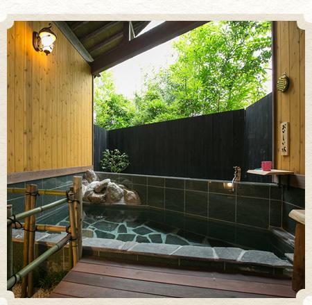 1日目 21:00 プライベートに浸る 癒しの貸切風呂