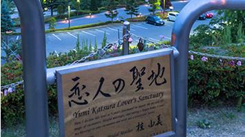 恋人の聖地 ほっとワイン 笛吹川フルーツ公園より望む新日本三大夜景