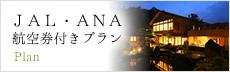 JAL・ANA航空券付きプラン